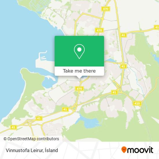 Vinnustofa Leirur map