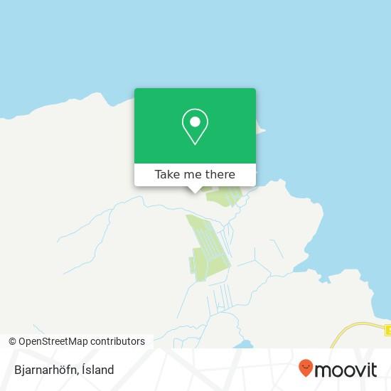 Bjarnarhöfn map