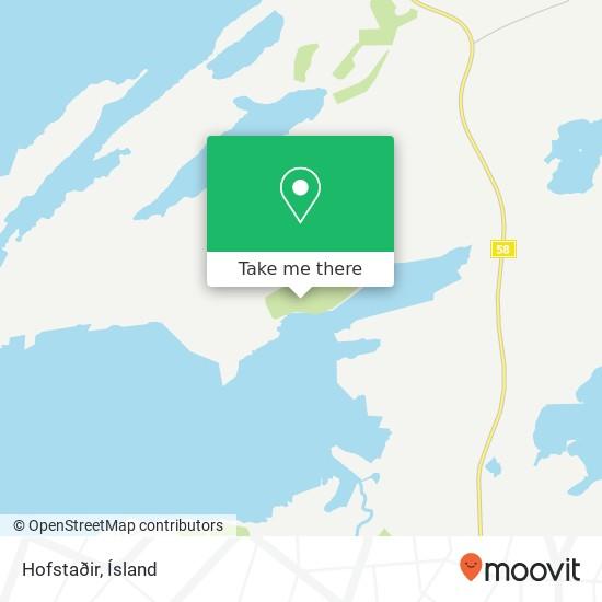 Hofstaðir map