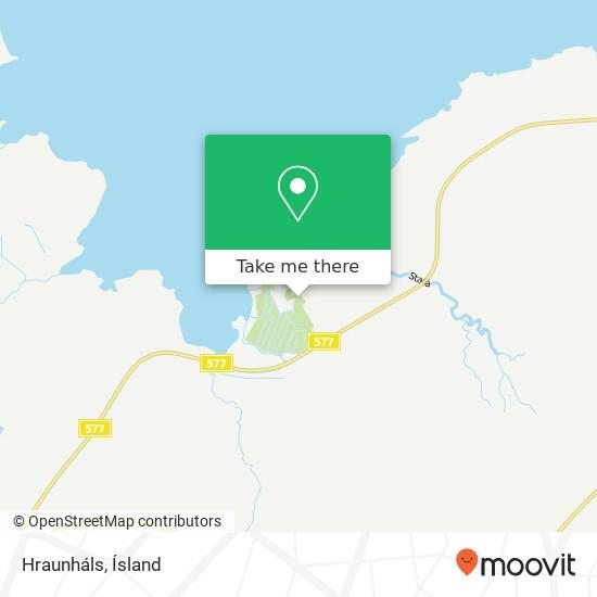 Hraunháls map