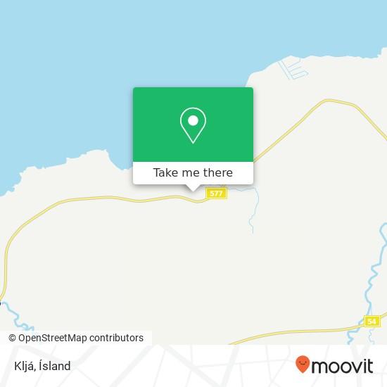 Kljá map