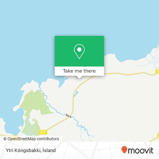 Mapa Ytri Kóngsbakki