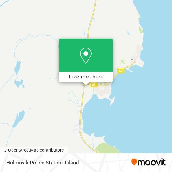 Holmavik Police Station map