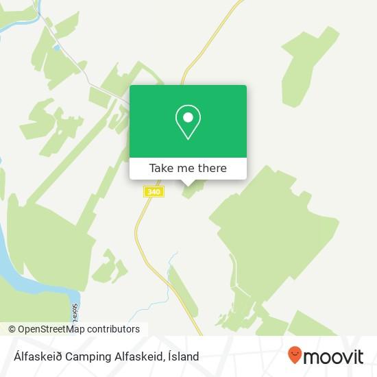 Álfaskeið Camping Alfaskeid map