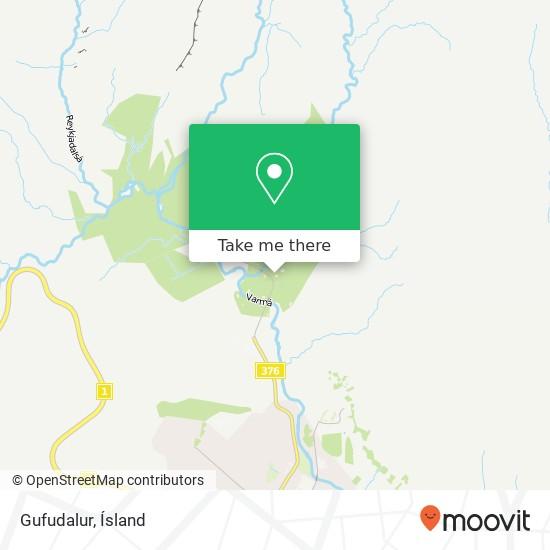 Gufudalur map