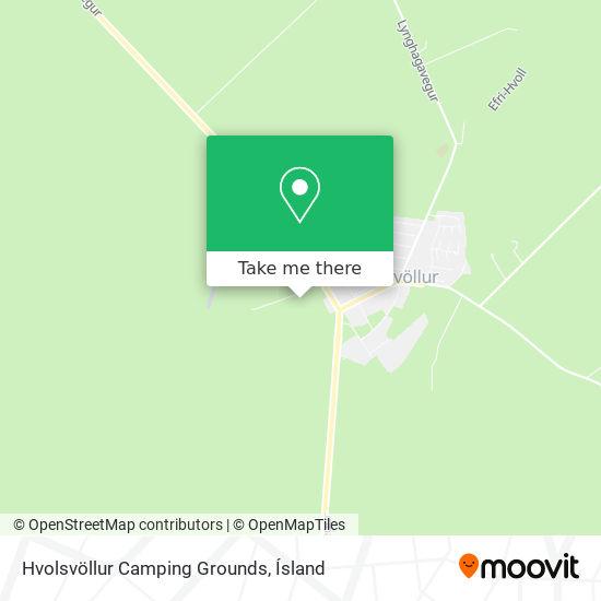 Hvolsvöllur Camping Grounds map