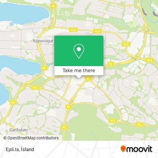 Epli.Is map