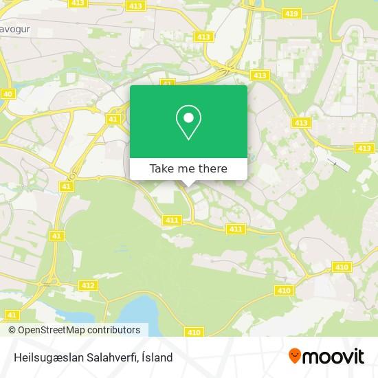 Heilsugæslan Salahverfi map