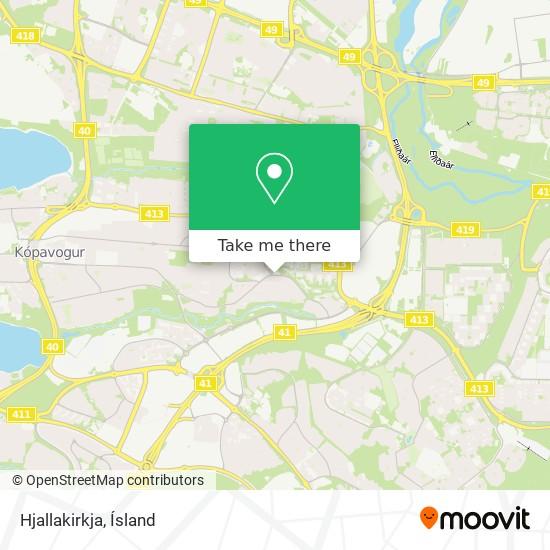 Hjallakirkja map