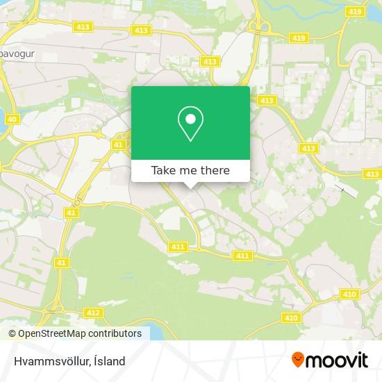Hvammsvöllur map