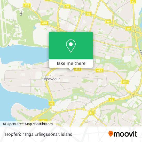 Hópferðir Inga Erlingssonar map