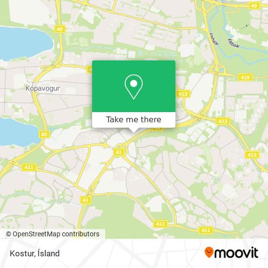 Kostur map