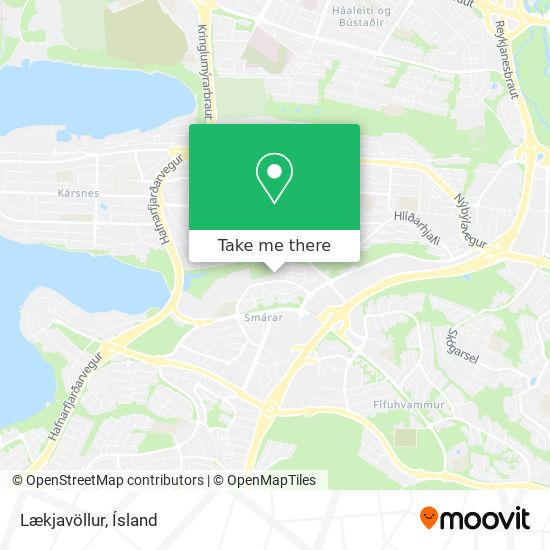 Lækjavöllur map