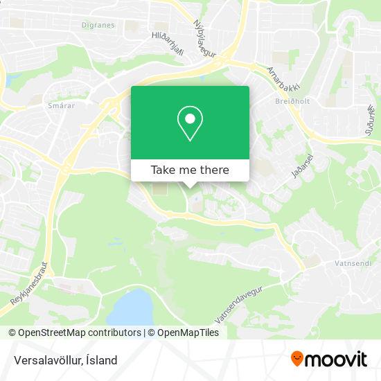 Versalavöllur map