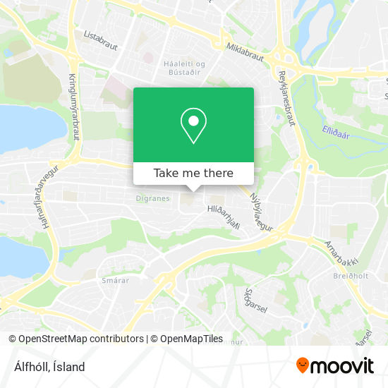 Álfhóll map