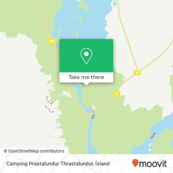 Camping Þrastalundur Thrastalundur map