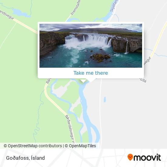 Goðafoss map