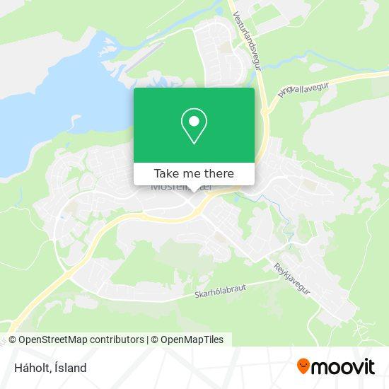 Háholt map