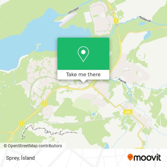 Sprey map