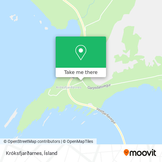 Króksfjarðarnes map