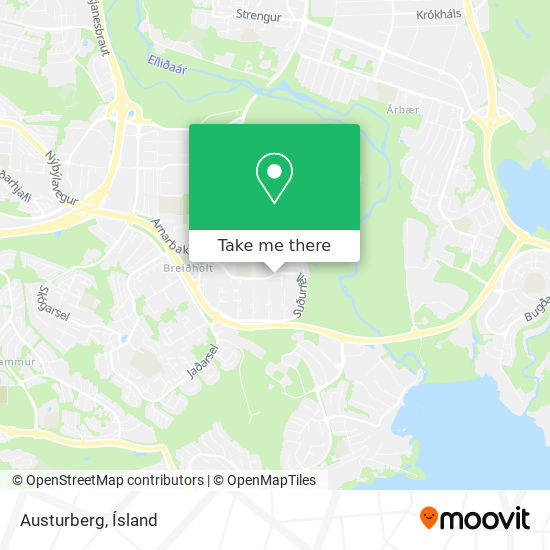 Austurberg map