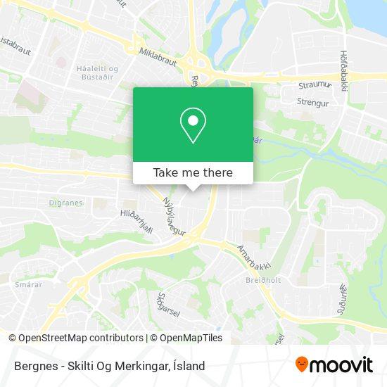 Bergnes - Skilti Og Merkingar map