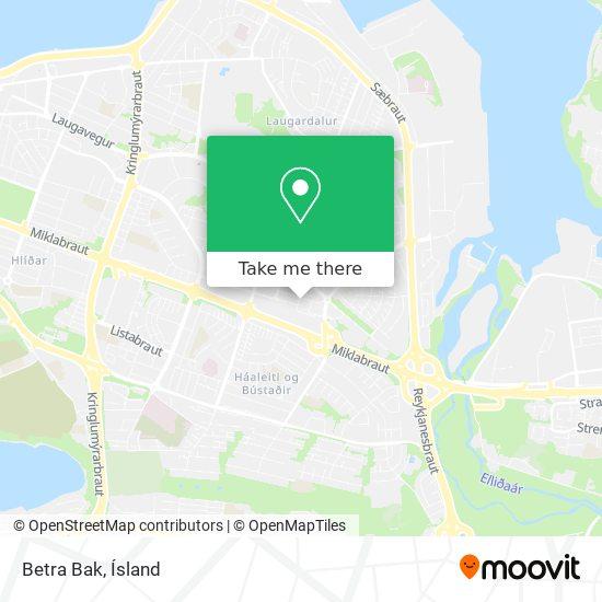 Betra Bak map