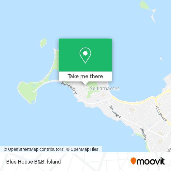Blue House B&B map