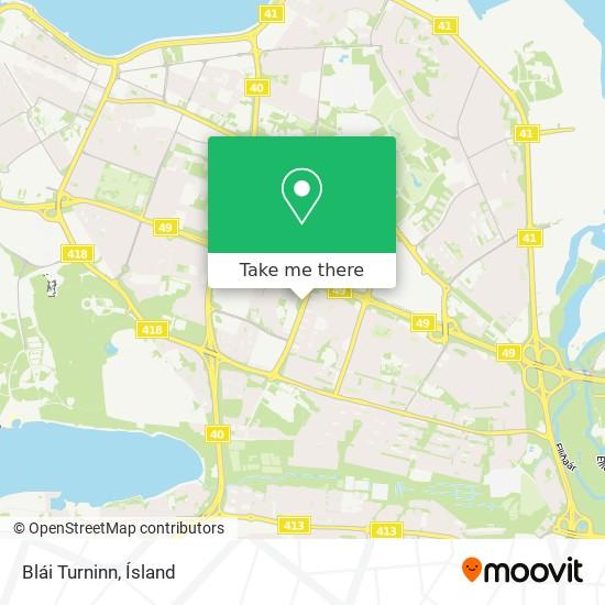 Blái Turninn map