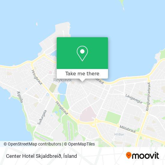 Center Hotel Skjaldbreið map