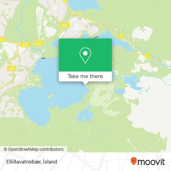 Elliðavatnsbær map