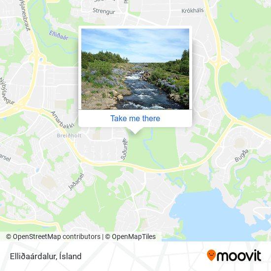 Elliðaárdalur map
