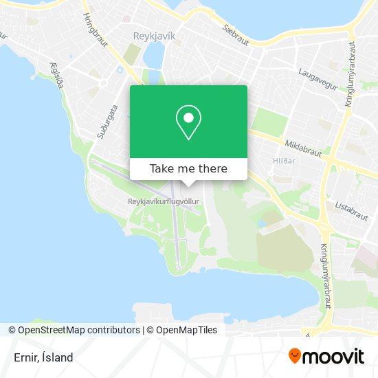 Ernir map