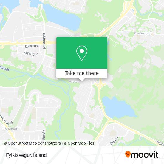 Mapa Fylkisvegur