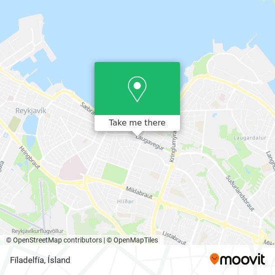 Fíladelfía map