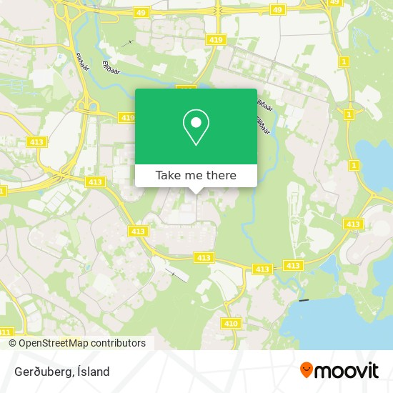 Gerðuberg map