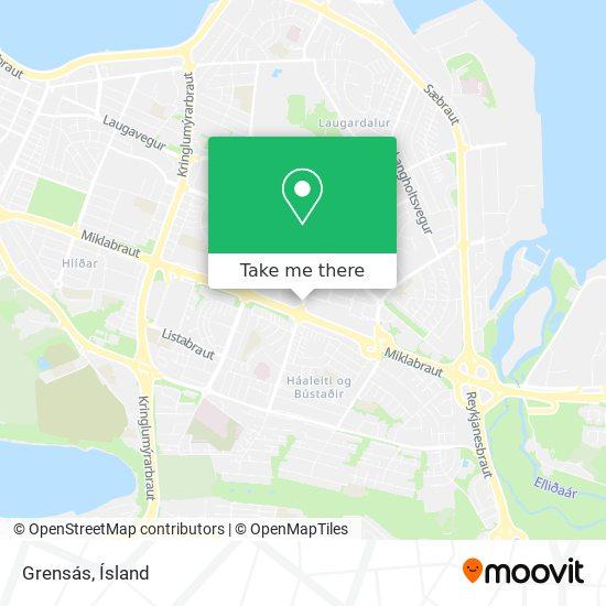 Grensás map