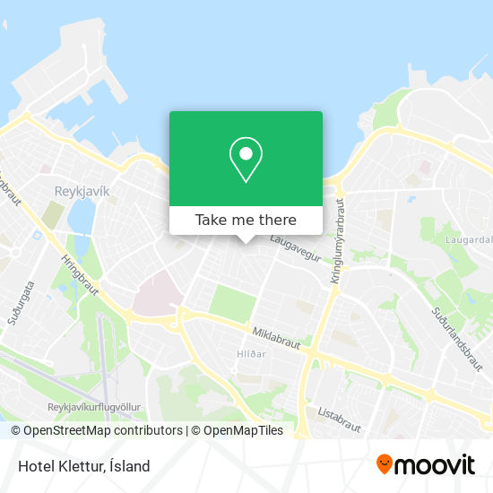 Hotel Klettur map