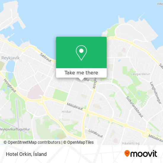 Hotel Orkin map