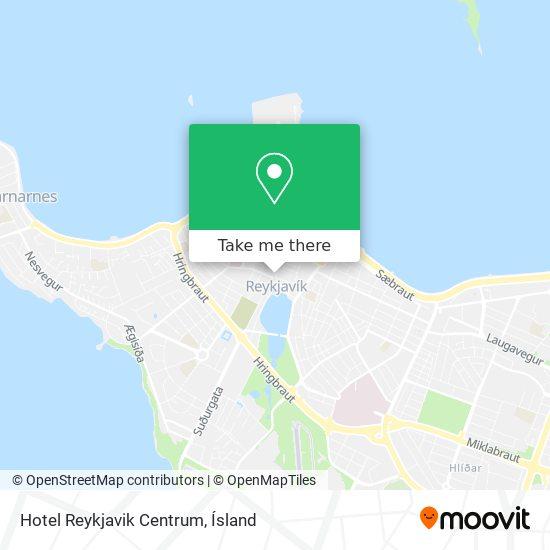 Hotel Reykjavik Centrum map