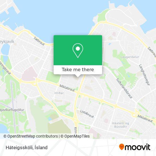 Háteigsskóli map