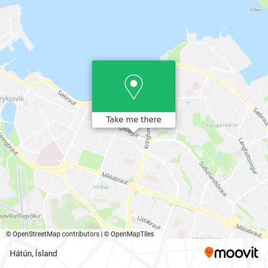 Hátún map