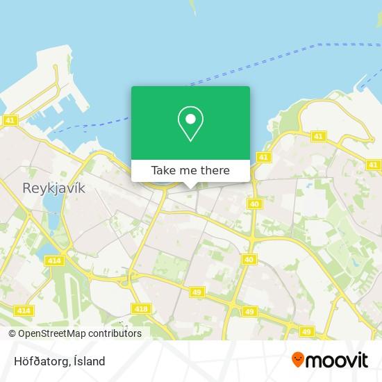 Höfðatorg map