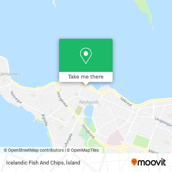 Icelandic Fish And Chips map