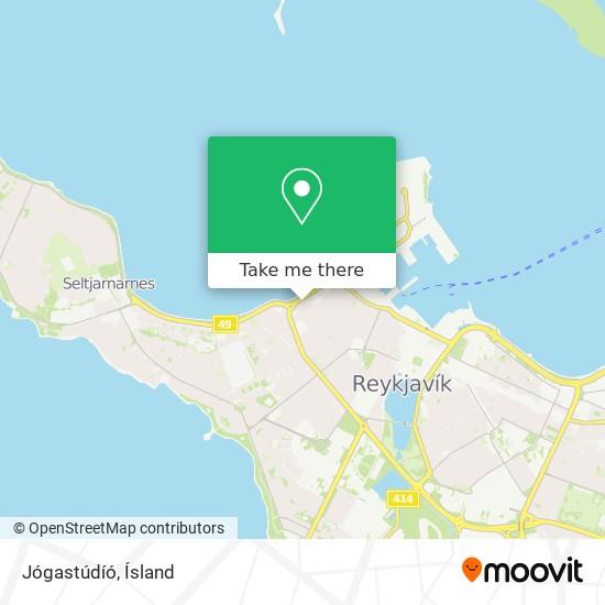 Jógastúdíó map