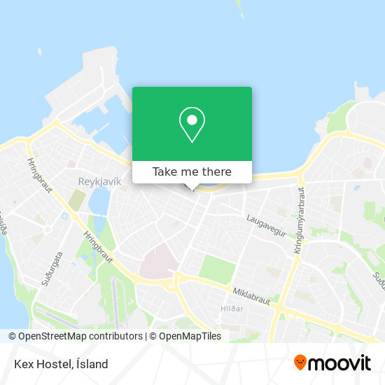 Kex Hostel map