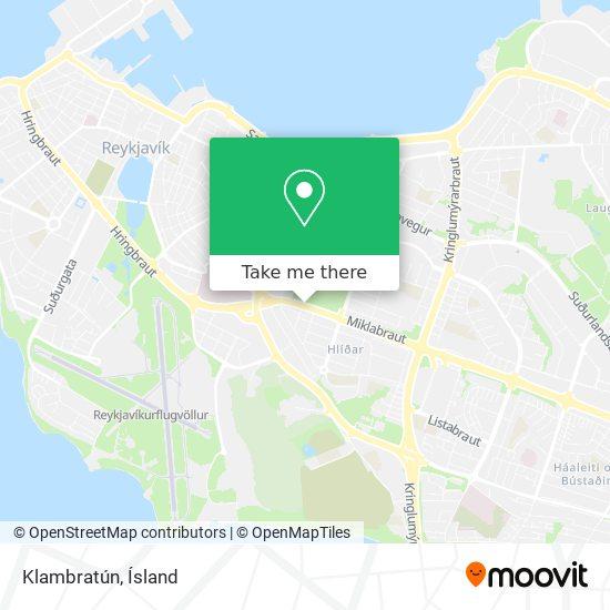 Klambratún map