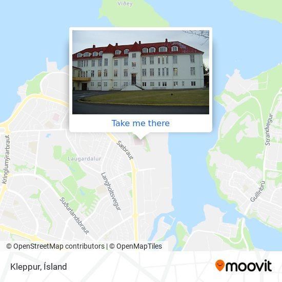 Kleppur map
