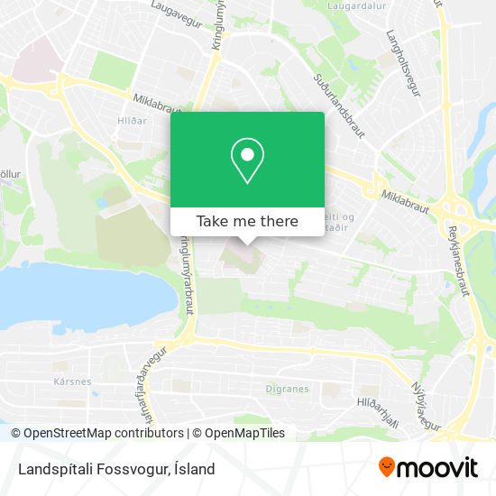Landspítali Fossvogur map