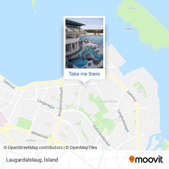 Laugardalslaug map